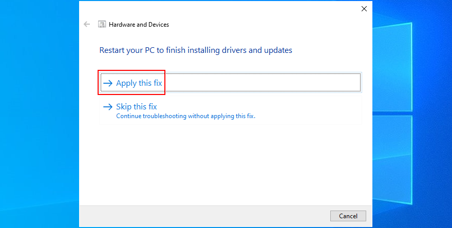 Windows shows how to prevalence date Hardware plus Devices troubleshooter fixes