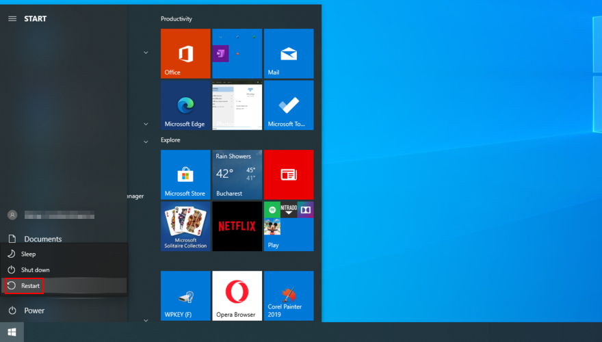 Windows 10 shows how to restart your PC palaetiology date Kickoff menu