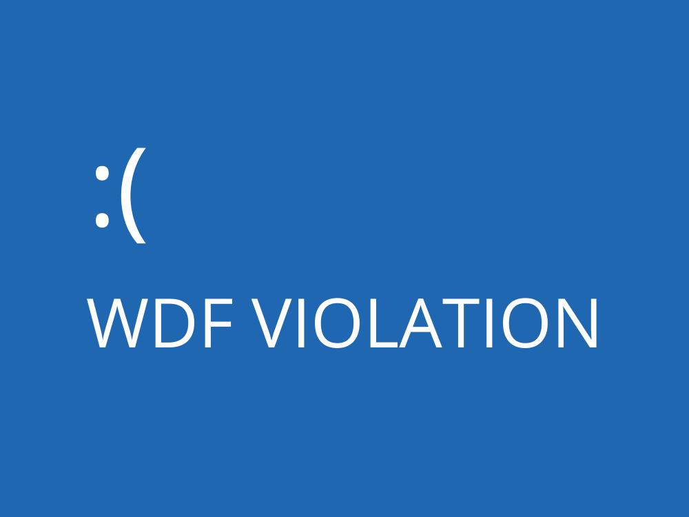 WDF EMEUTE Parquetry, Atonement Code, BSoD