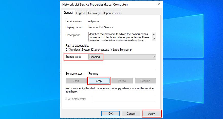 Windows shows how to disfigure profits enumerate service