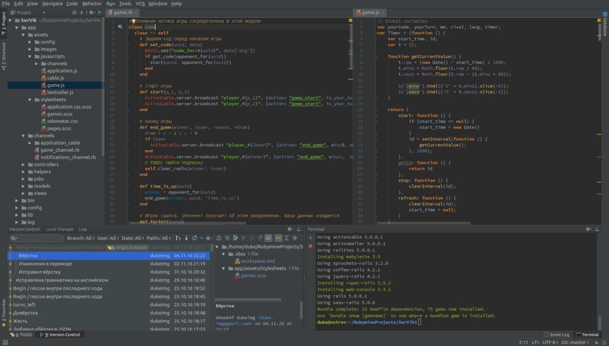 JetBrains RubyMine on Linux