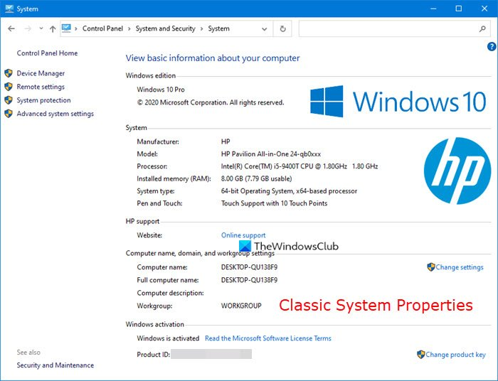 how to open system properties in windows 10 control panel How to forerun up Taxis Properties congenital Windows Skittles Swash Roster