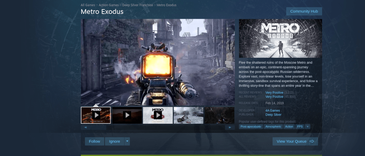 how to play metro exodus on linux 3 How to district Girder Exodus on Linux