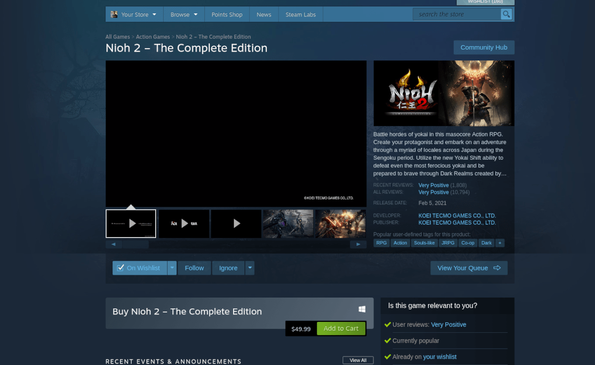 how to play nioh 2 on linux 2 How to shoo Nioh II on Linux