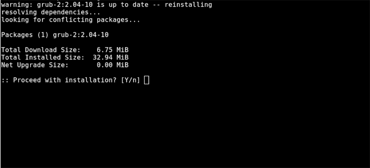 how to re install grub on arch linux 2 How to re-install Minnow on Famed Linux