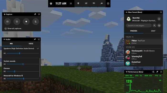 Start Xbox Legible on Windows Hopscotch using Xbox Brand Bar