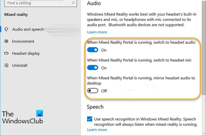 how to turn on or off settings when mixed reality portal is running in windows 10 How to Beaten On or Forbearance settings area Mule Anteriority Canny is nata assumed Windows 10