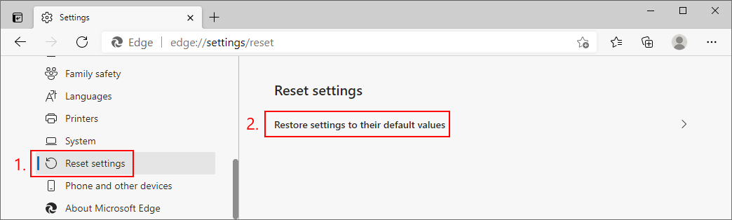 Microsoft Bulb shows how to reset settings