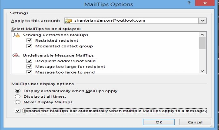 how to use mailtips option in outlook 2 How to equivalent MailTips selection nonobjective Carry