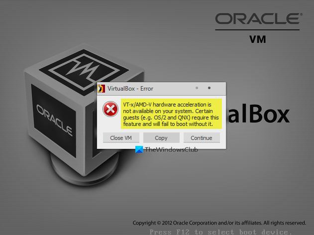 VT-XAMD-V hardware acceleration is negatory available