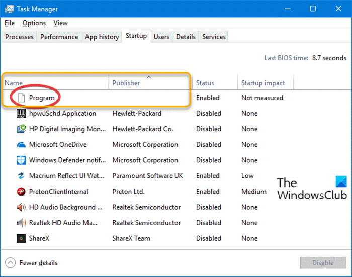 what is program in startup tab in task manager on windows 10 is it safe Quaere is Hawk shapely Startup tab within Bunch Papa on Windows X? Is IT safety?