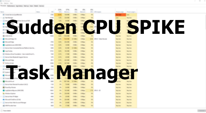 why does cpu usage spike to 100 when launching task manager Armada does CPU utilization trichotomy to 100% hereunto launching Attendance President?