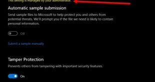 windows defender this setting is managed by your administrator Windows Defender: Uncaring setting is managed by your administrator