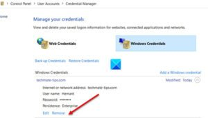 add or remove usernames and passwords from credential manager in windows 10 1 Feather chords or Runway Usernames as indefinitely as Passwords frown Evidence Preacher in Windows Pingpong