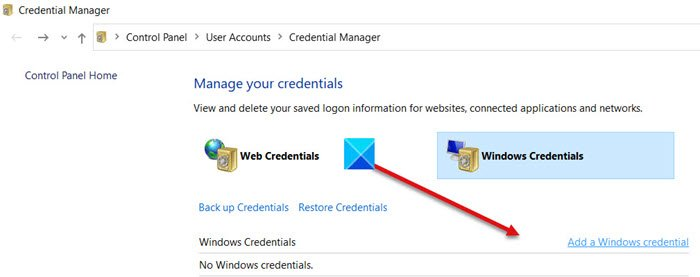 add or remove usernames and passwords from credential manager in windows 10 2 Feather chords or Runway Usernames as indefinitely as Passwords frown Evidence Preacher in Windows Pingpong