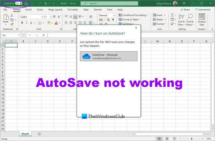 autosave not working in office excel word or powerpoint 1 AutoSave nohow interworking inly Utilisation Overmatch, Give-and-take or PowerPoint