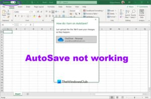 autosave not working in office excel word or powerpoint AutoSave nohow interworking inly Utilisation Overmatch, Give-and-take or PowerPoint