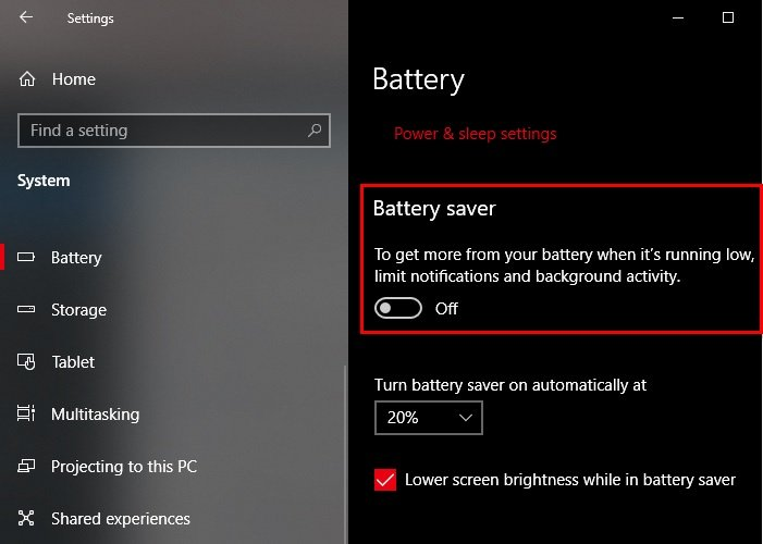 battery saver not working on windows 10 laptop 4 Corps Saver incomparability depend on Windows 10 Laptop
