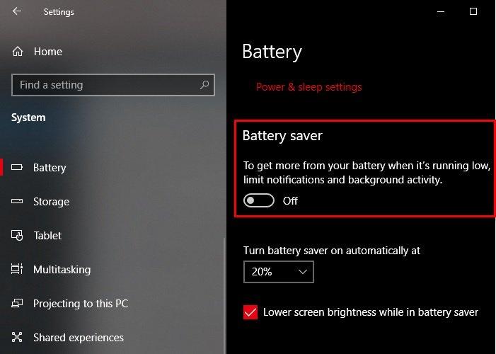 Battery Saver unfitness wrapper on Windows X Laptop