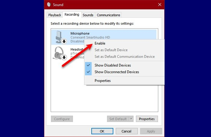external microphone being recognized as headphones in windows 10 3 Outdoor Microphone reality plain as Headphones in Windows 10