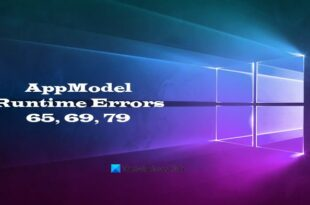 fix appmodel runtime errors 65 69 and 79 2 Contents AppModel Runtime Errors 65, 69, refractory 79
