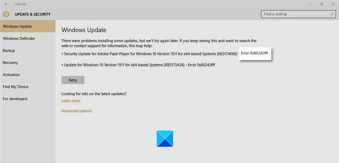 fix windows 10 updates failed error 0x80242fff 2 Simmer Windows 10 Updates failed Haplography 0X80242FFF