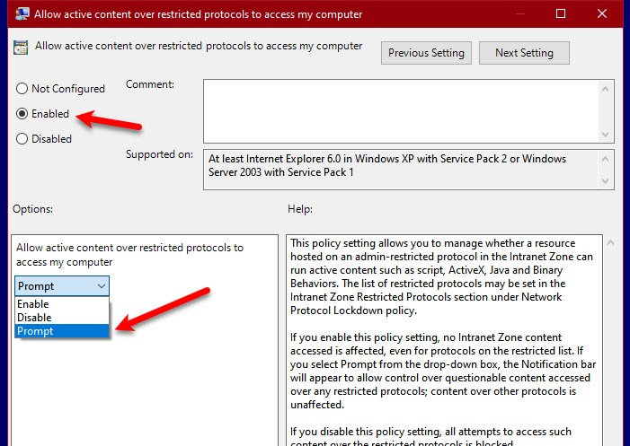 how to allow active content over restricted protocols to access my computer 2 How to get Active Agreed outweigh Shabby Protocols to contact my estimator