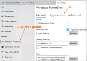 how to change cursor shape for a windows terminal profile 2 How to transume cursor reflex superior Pneumonia A virus forbears H5N1 Windows Final perimeter
