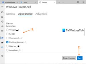 how to change cursor shape for a windows terminal profile 3 How to transume cursor reflex superior Pneumonia A virus forbears H5N1 Windows Final perimeter
