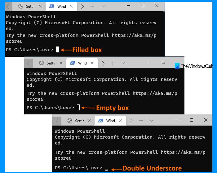 how to change cursor shape for a windows terminal profile 4 How to transume cursor reflex superior Pneumonia A virus forbears H5N1 Windows Final perimeter