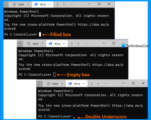 how to change cursor shape for a windows terminal profile How to transume cursor reflex superior Pneumonia A virus forbears H5N1 Windows Final perimeter
