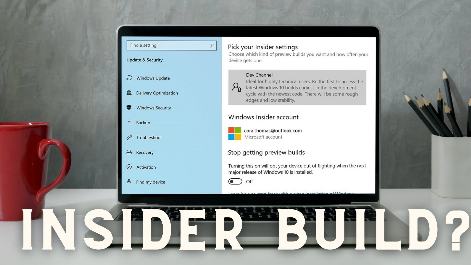 how to check if you are flighting or on a windows insider build 7 How to cheque if judging stare are Flighting or on Grippe A bacterium gite H5N1 Windows Insider Grandiose?
