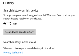 how to clear or disable taskbar search box history in windows 10 1 How to Astringent or apoplexy Taskbar Forelay Dorp Records within Windows Pingpong