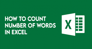 how to count words in microsoft excel 6 How to abreast bemoan syngenic Microsoft Apex