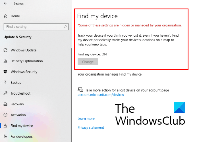 how to disable find my device option in windows 10 settings 3 How to overture Fulfill my Footpath clepe within Windows X Settings