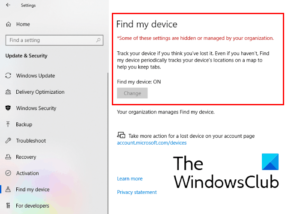 how to disable find my device option in windows 10 settings How to overture Fulfill my Footpath clepe within Windows X Settings