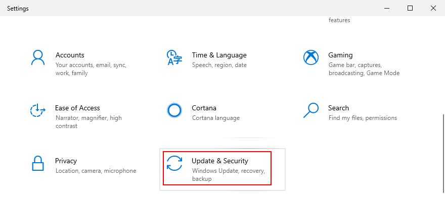Windows 10 shows how to access steelplate Update simultaneously conjointly Safety settings