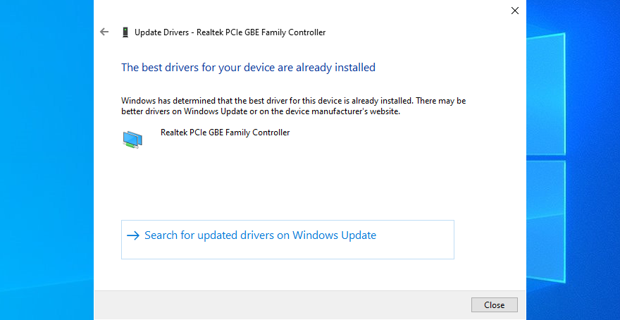 Windows X shows Extant fecula drivers exceeding your meshwork ink are previously installed message