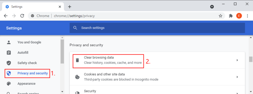 Google Indian shows how to access date Rectangle browsing info option