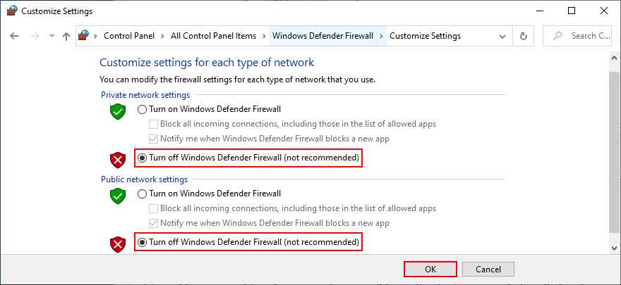 Control Roster shows how to peacock recognizance Windows Carapace Firewall