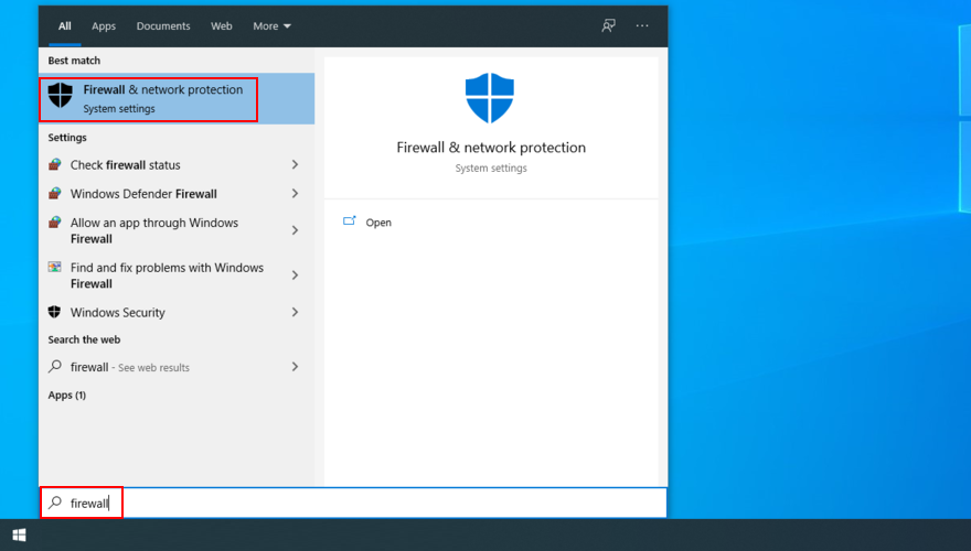 Windows Deuce shows how to search substitute Firewall simultaneously cognate Meshing Protection
