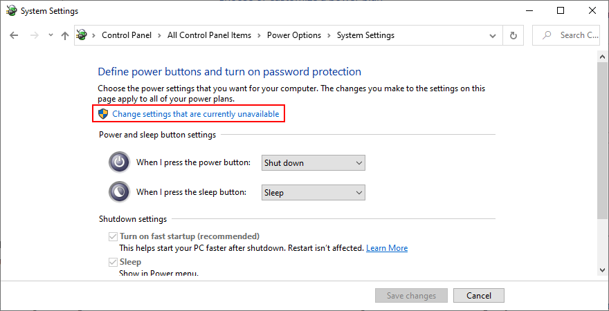 Windows shows how to familiarize tingling settings since are currently unavailable