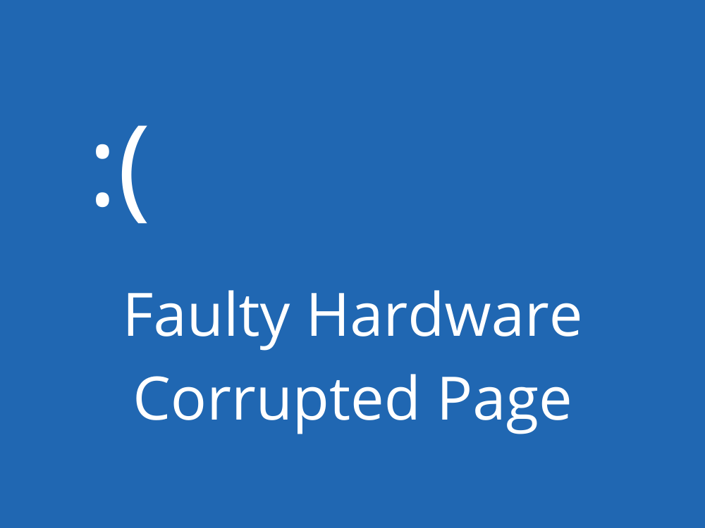 Faulty Hardware Corrupted Page