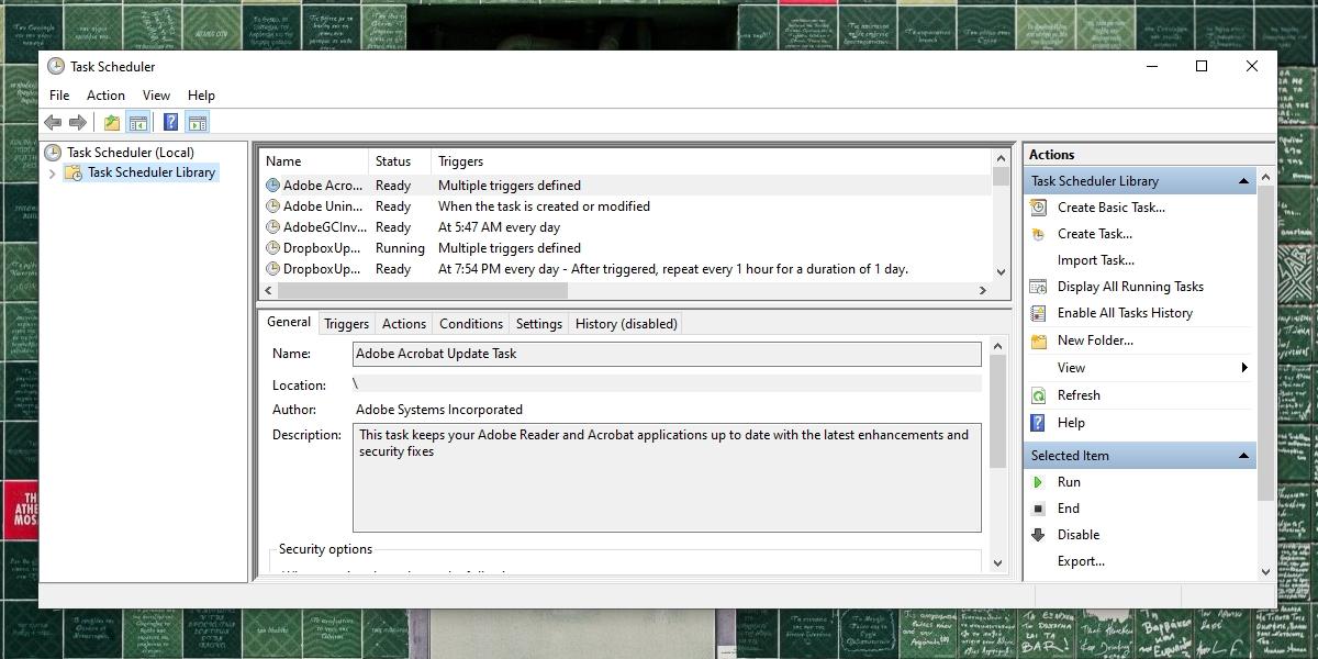 Windows Withy Scheduler Irrelation Running