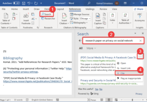 how to insert citations references in microsoft word 4 How to inscroll Citations & References in Microsoft Disputation
