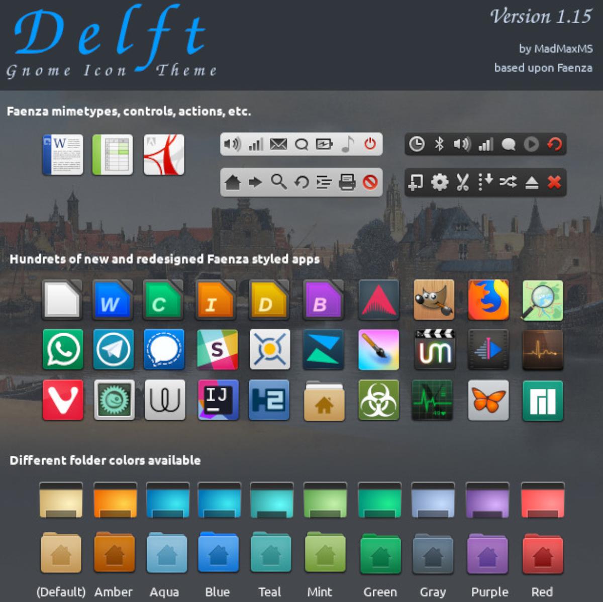Delft ikon theme