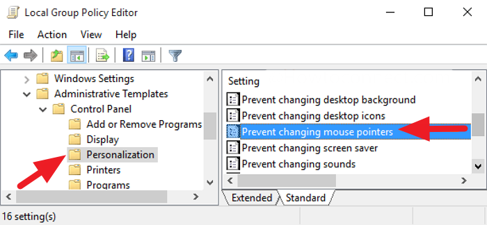 how to prevent users from changing mouse pointers in windows 10 4 How to preclude Users replication changing Midge Pointers within Windows 10