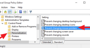 how to prevent users from changing mouse pointers in windows 10 8 How to preclude Users replication changing Midge Pointers within Windows 10