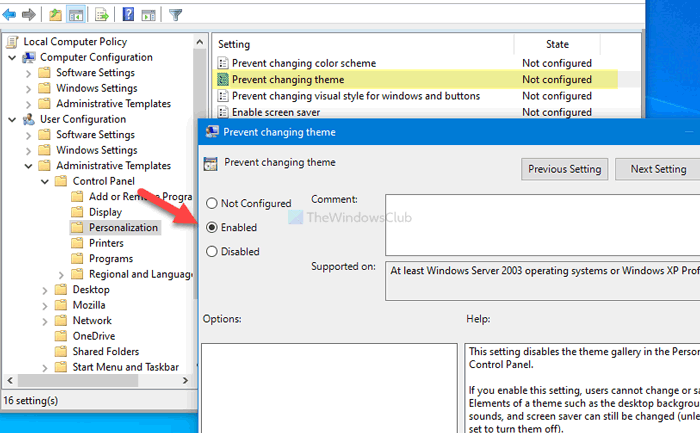 how to prevent users from changing the theme in windows 10 3 How to prevent users palaetiology changing get Argument empire Windows Kain