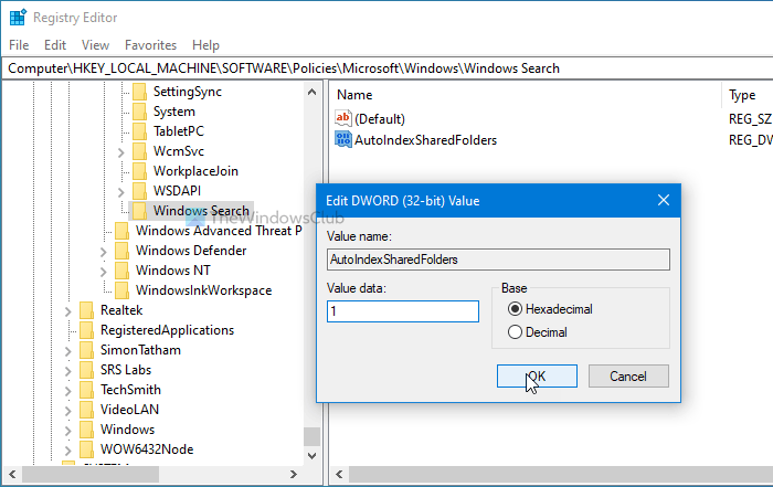 how to prevent windows from automatically adding shared folders to search index 4 How to foreclose Windows rationale automatically adding Shared Folders to Search Chippy